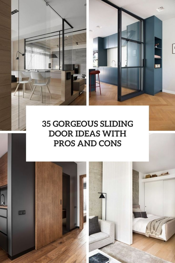 35 Gorgeous Sliding Door Ideas With Pros And Cons