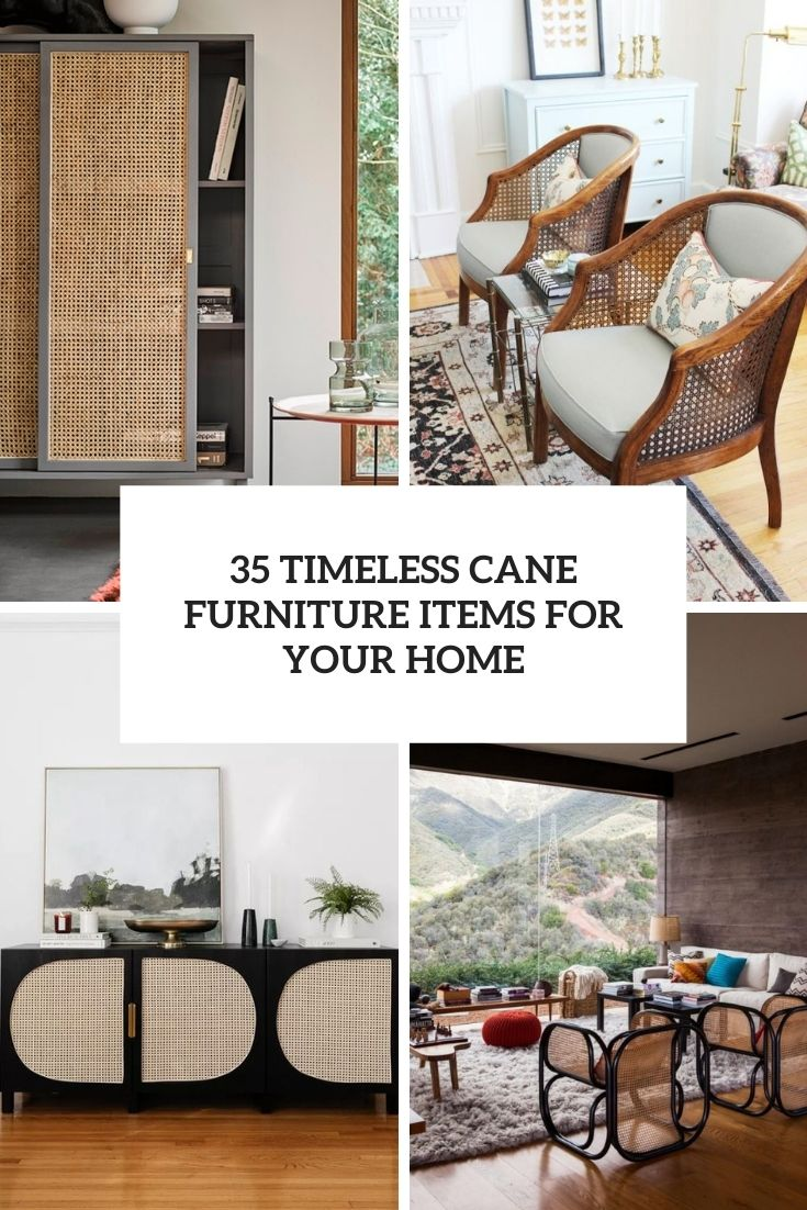 35 Timeless Cane Furniture Items For Your Home