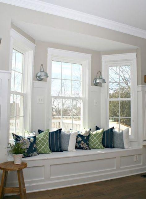 a stylish bay window zone with french windows