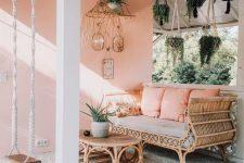 a cute boho-inspired patio design