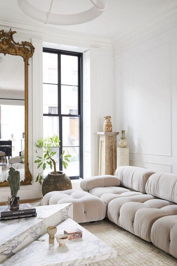 an airy neutral living room design
