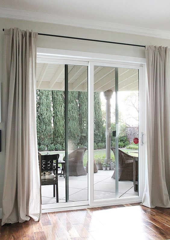 framed glass sliding doors are ideal to make the room merge with the space, let natural light inside and look very lightweight