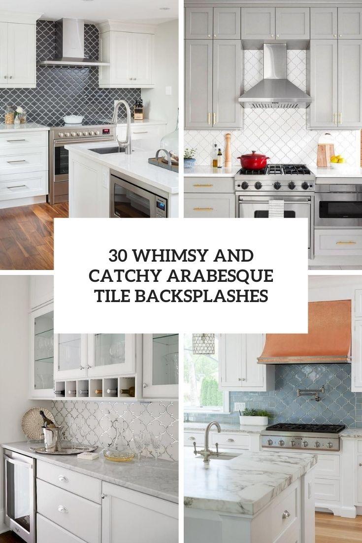 whimsy and catchy arabesque tile backsplashes cover