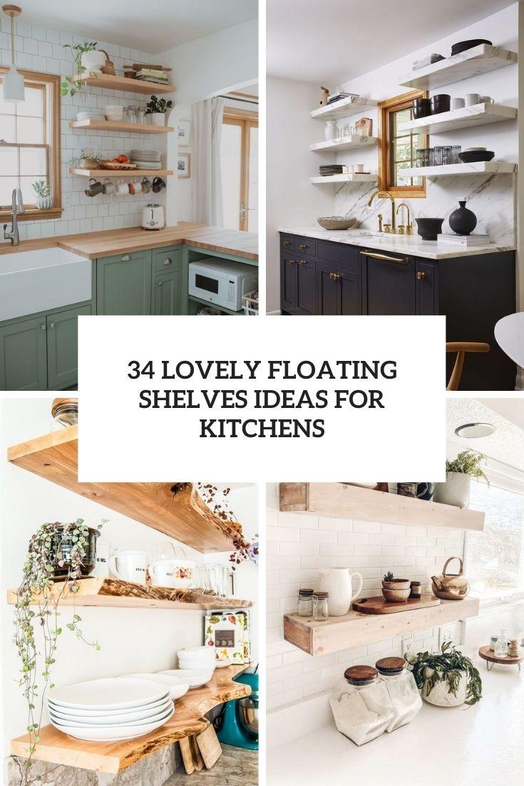 lovely floating shelves ideas for kitchens cover