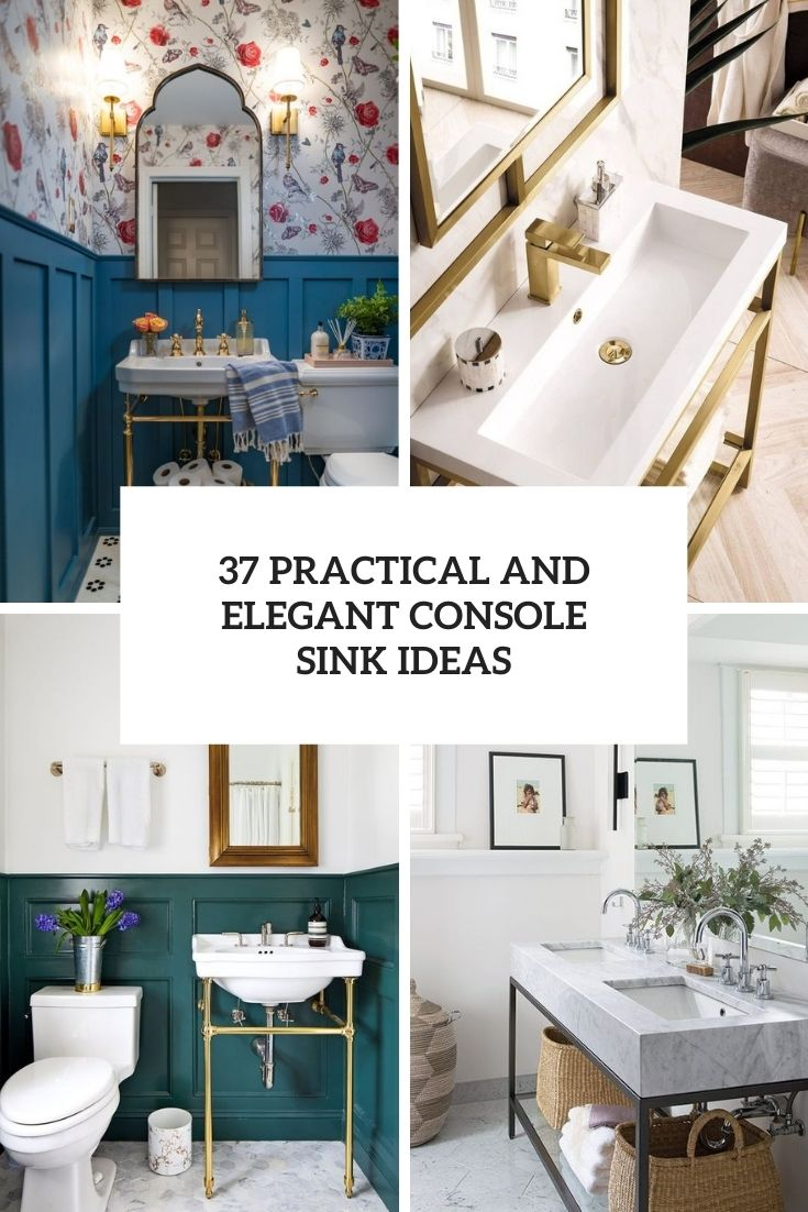 37 Practical And Elegant Console Sink Ideas