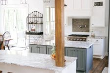 a luxurious kitchen design with stone countertops