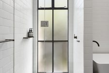 08 a full height French style frosted glass window looks wow and adds style yet keeps privacy