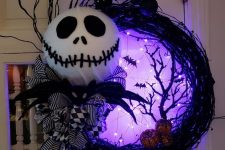 a nightmare before christmas halloween wreath