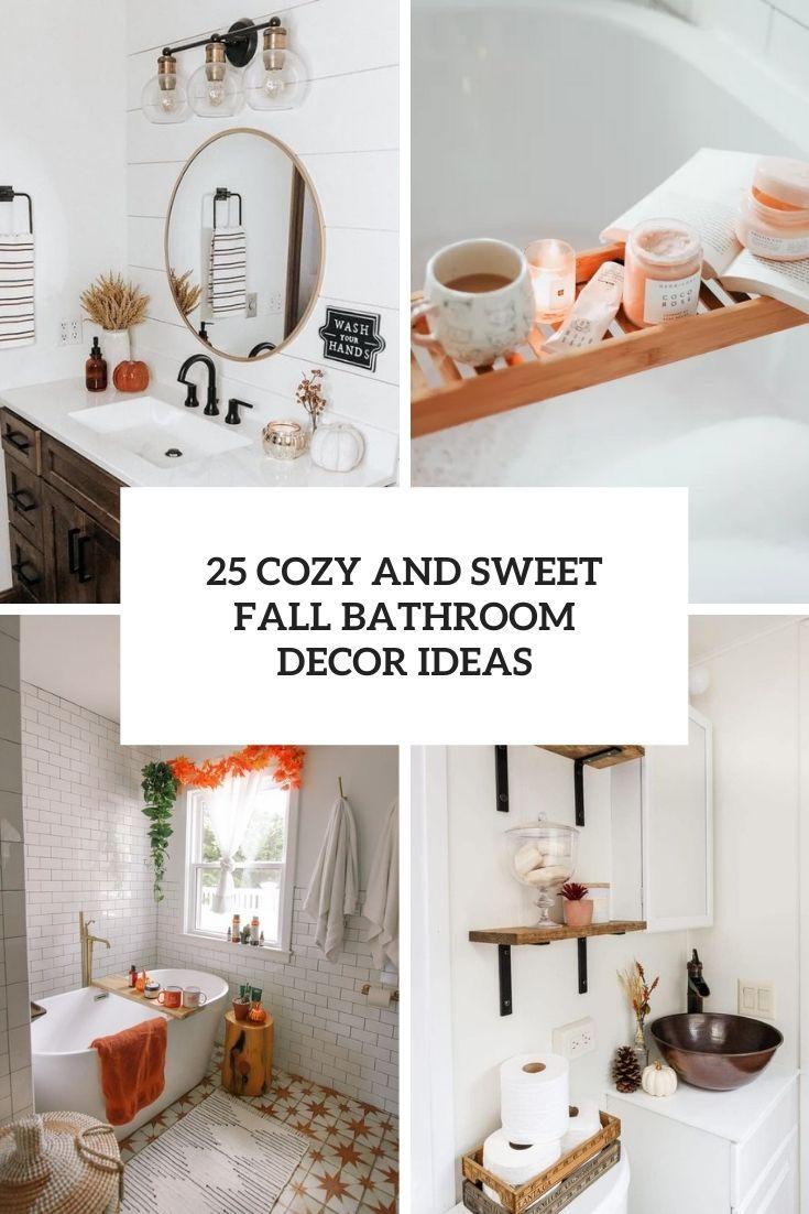 cozy and sweet fall bathroom decor ideas cover