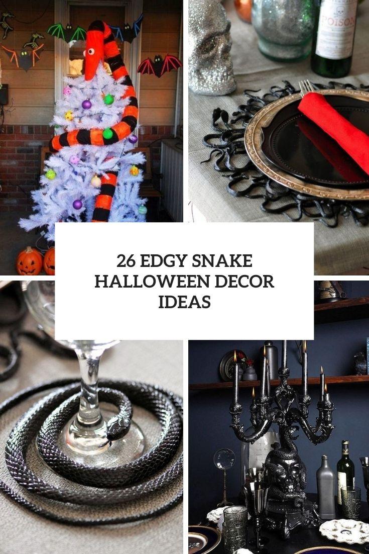 26 Edgy Snake Halloween Decor Ideas