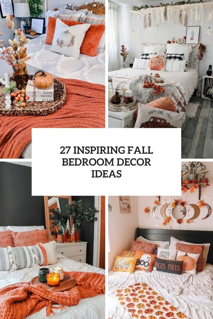 inspiring fall bedroom decor ideas cover