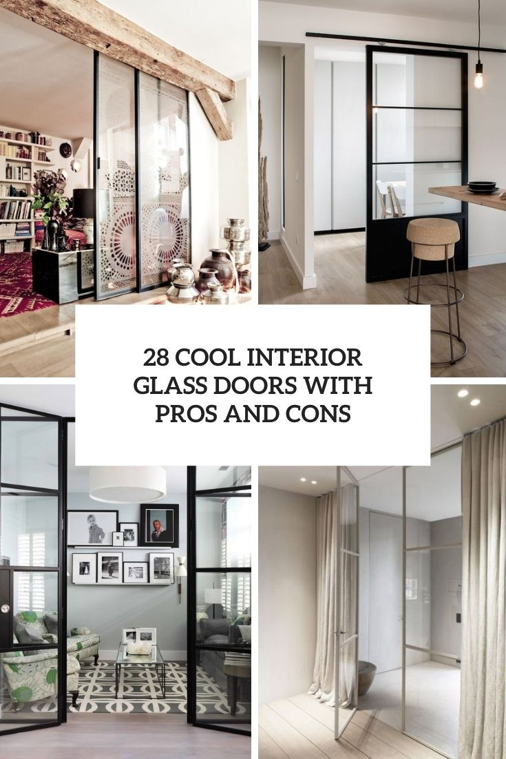 28 Cool Interior Glass Doors With Pros And Cons