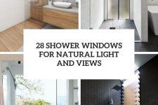 28 shower windows for naturla light and views cover
