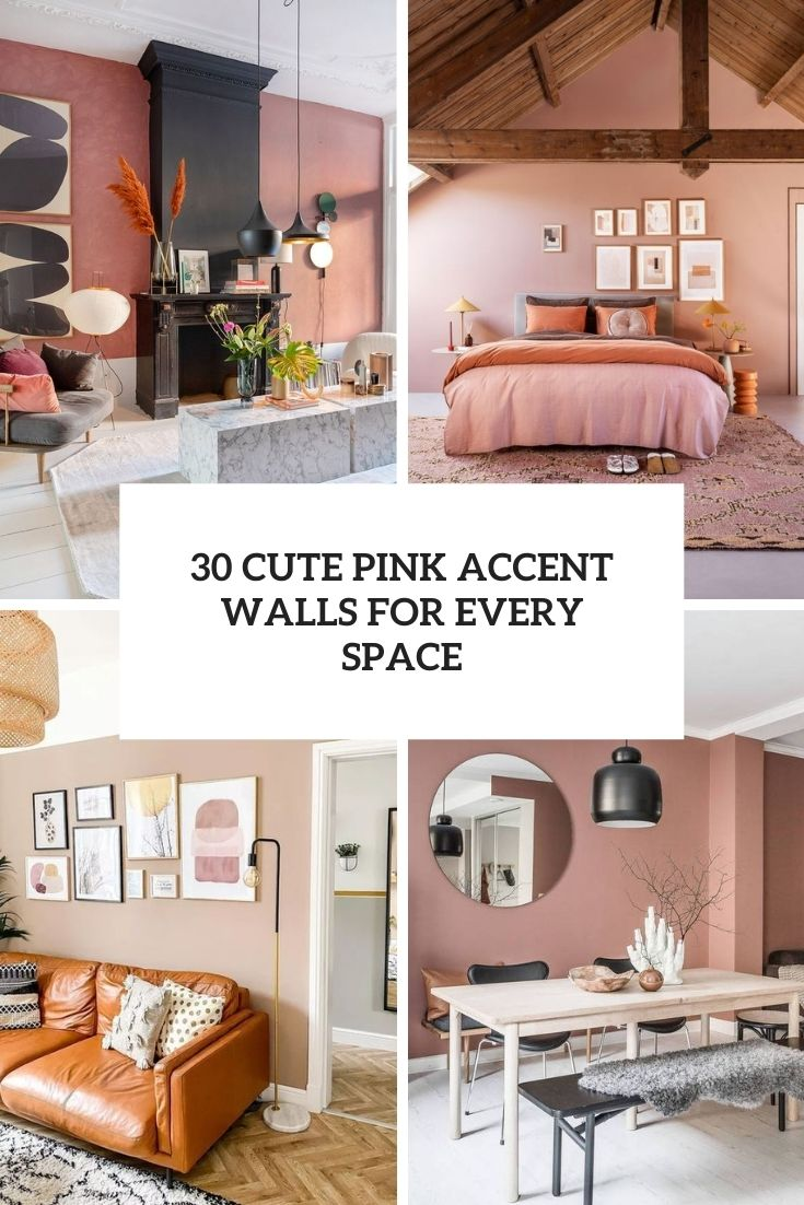30 Cute Pink Accent Walls For Every Space