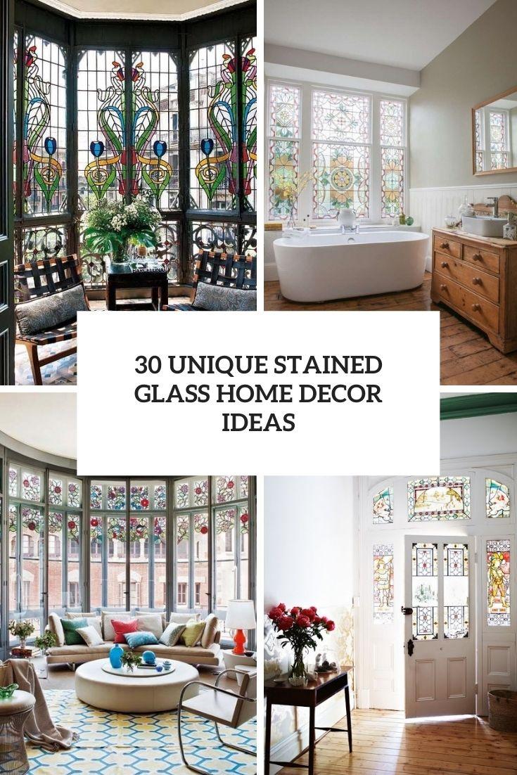 30 Unique Stained Glass Home Decor Ideas