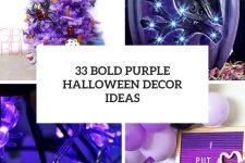 33 bold purple halloween decor ideas cover