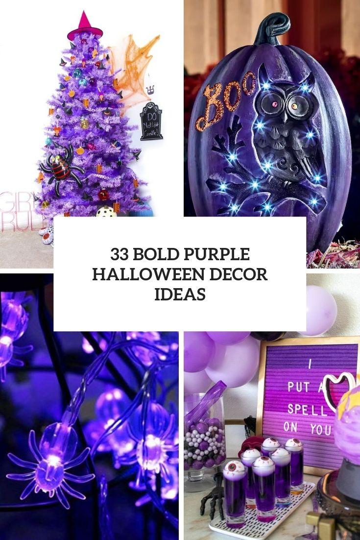 31 Bold Purple Halloween Decor Ideas