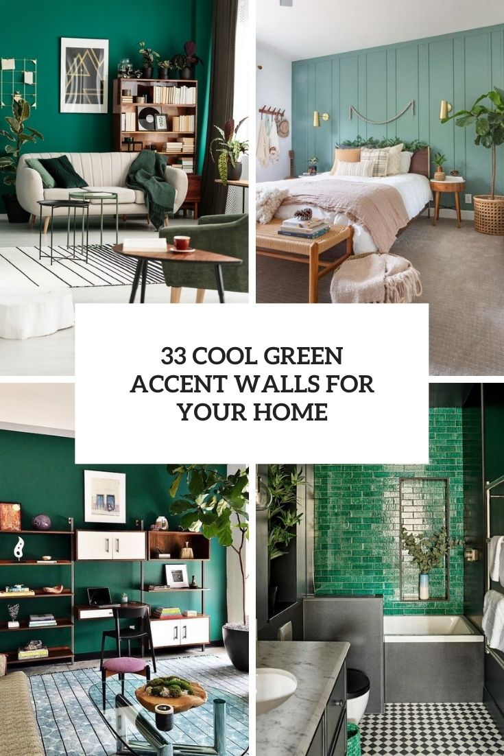 cool green accent walls for your home cover