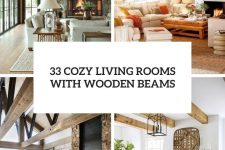 33 cozy living rooms with wooden beams cover