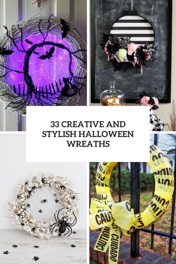 33 Creative And Stylish Halloween Wreaths