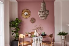 a stylish pink dining room design