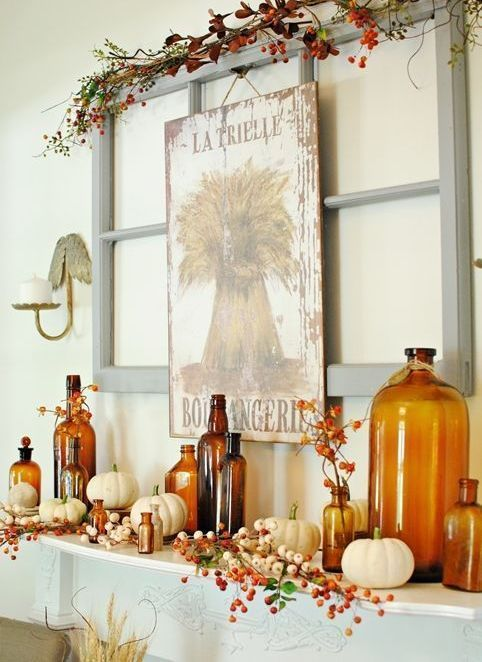 white pumpkins are perfect to decorate anything for fall and halloween