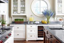 a contemporary rustic kitchen design