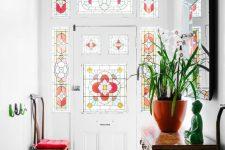 a stylish modern entryway design
