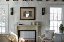 a cozy shabby chic living room design