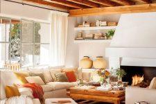 a cozy rustic living room design