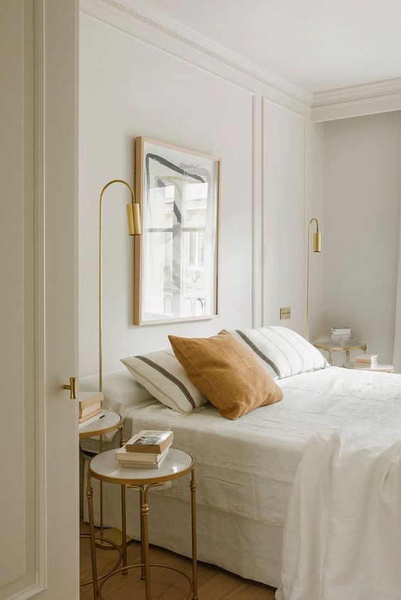 an airy neutral bedroom design