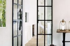 black metal framing will give French doors a fresh new look still refined as before and will let much light in