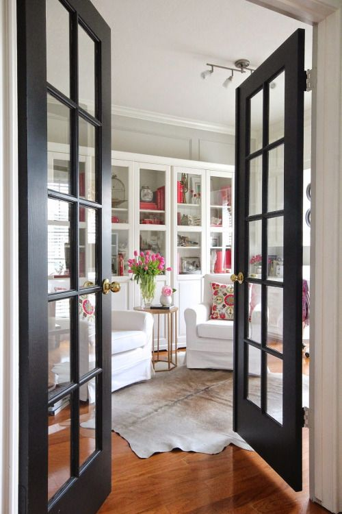 french glass doors are awesome room separators