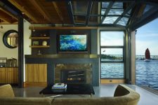 if you live close to a river or some other water body then a large glass garage door is a must to enjoy the view