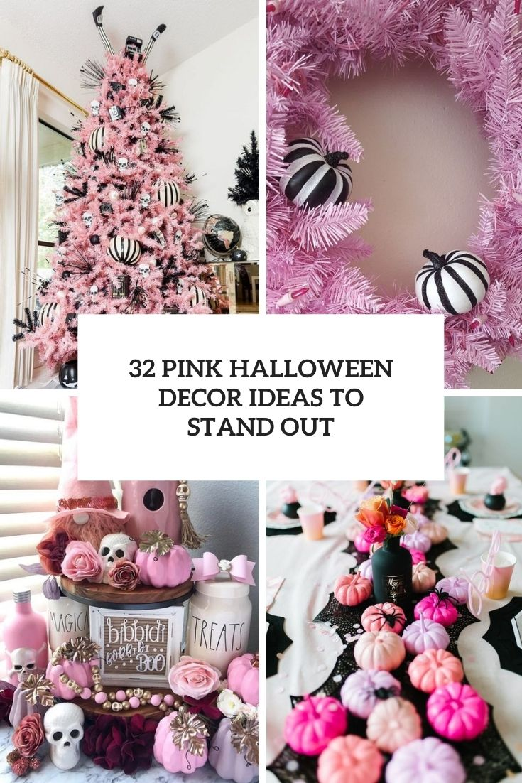 32 Pink Halloween Decor Ideas To Stand Out