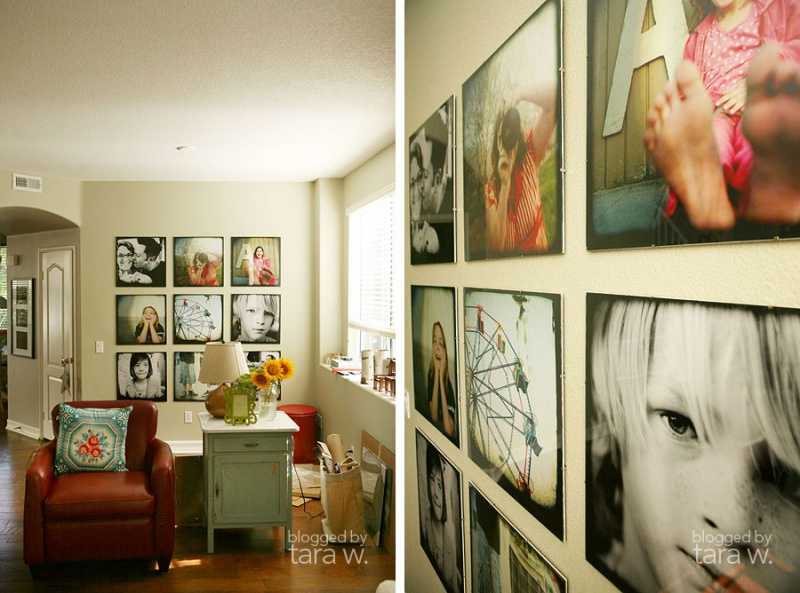 25 cool ideas to display family photos on your walls11 shelterness