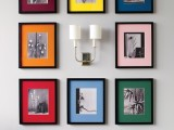 Colorful family photo display