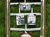 DIY Vintage Clothespin Frame (via lookbetweenthelines)