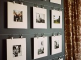 Modern family photo display  (via pinterest)