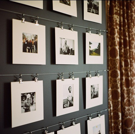 Modern family photo display