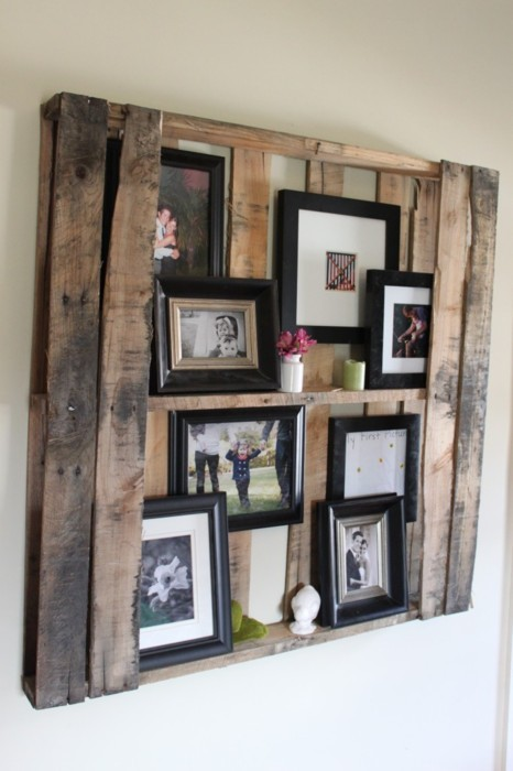DIY Natural Wood Photo Display (via pinterest)