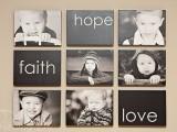 Modern and creative kids photo display