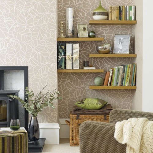 25 Cool Ideas To Place Shelves In Niches