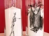 spooky glass candleholders