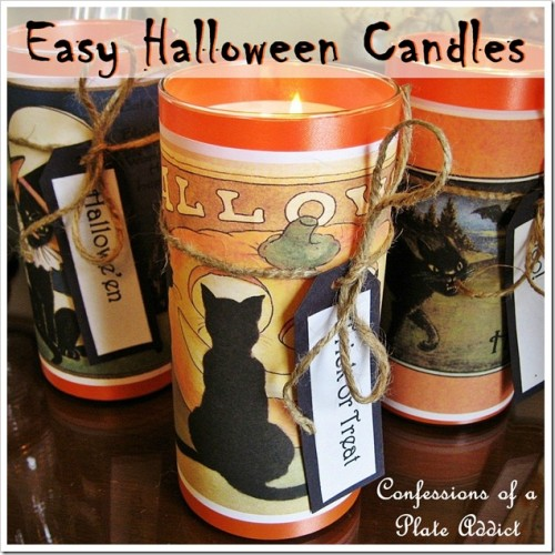 easy vintage Halloween candles (via confessionsofaplateaddict)