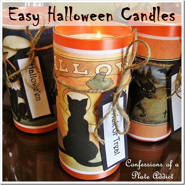 easy vintage Halloween candles
