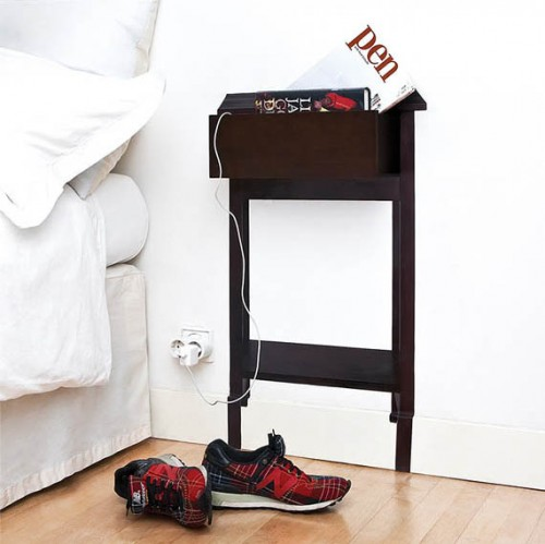 Small Bed Side Stand : Super Space Saving Bedside Table  Shelterness