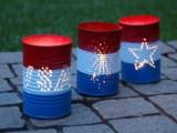 4th Of July Backyard Candle Lanterns