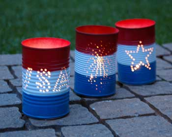 DIY 4th Of July Backyard Candle Lanterns