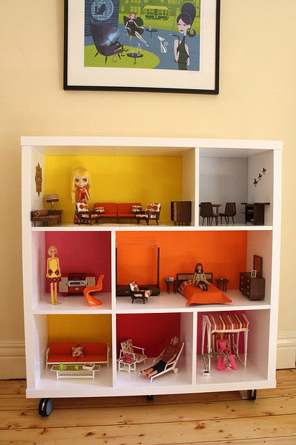 Cool DIY Dollhouses Made Of Simple Bookcases  Shelterness